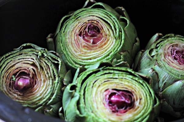 Artichokes in slow cooker